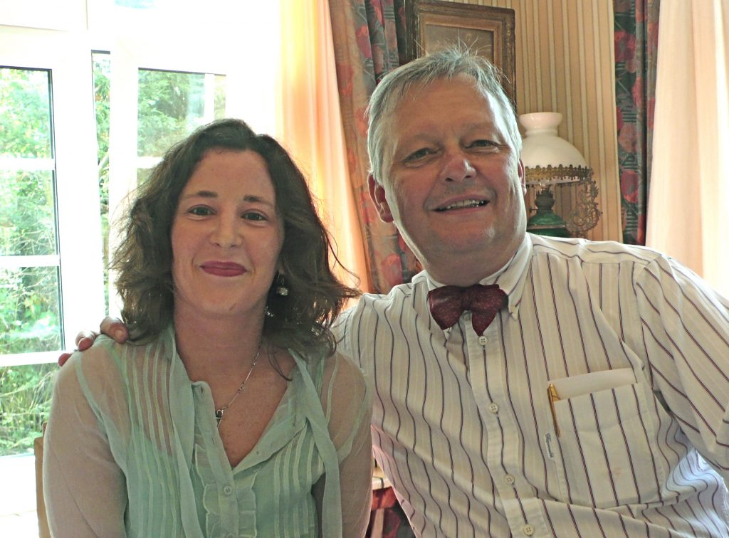 "Dr. Erin with Dr. Guéniot in April 2007 at his annual Spring ""Cure"" in Knokke, Belgium."